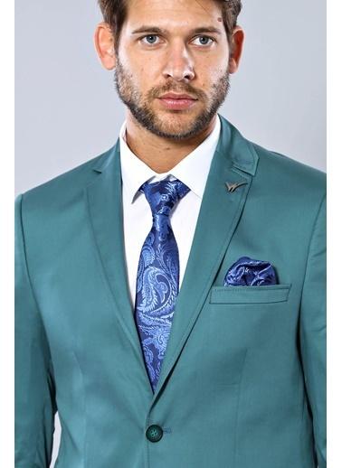 Wessi Erkek Acun Yaka Slim Fit Pamuk Spor Ceket Yeşil